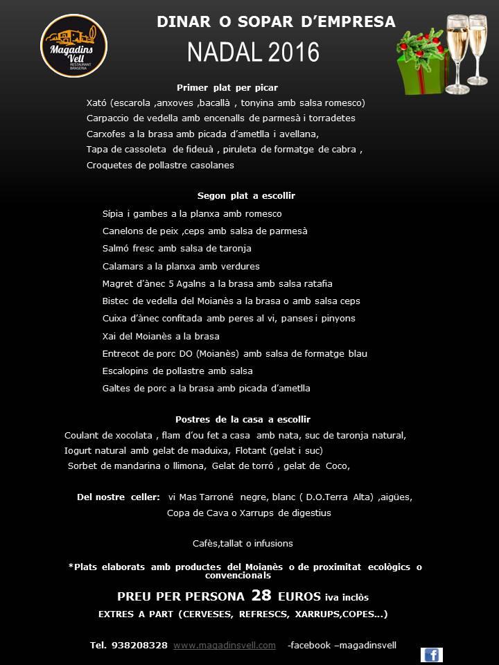 NADAL 2016.pptx menu 28 euros